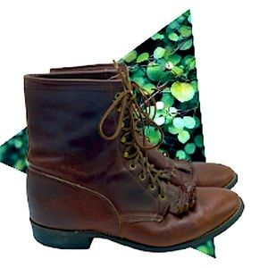 Laredo vintage brown western ankle boots men's